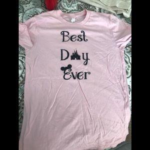 Tops - Disney inspired shirt. Best day ever. Size medium